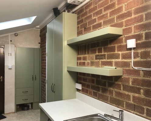 Utility room in garage