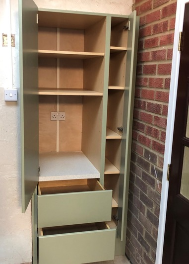Storage in utility room