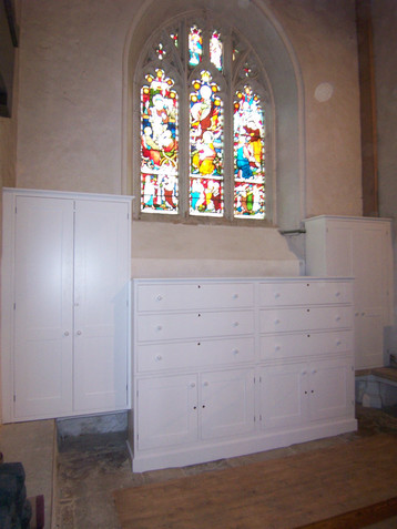 In-frame vestry cabinetry