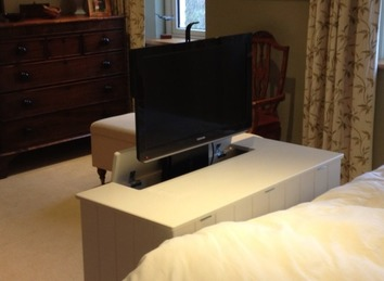 Bespoke TV cabinet with lift