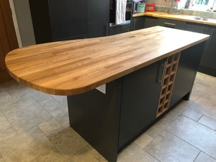 Bespoke island with timber top