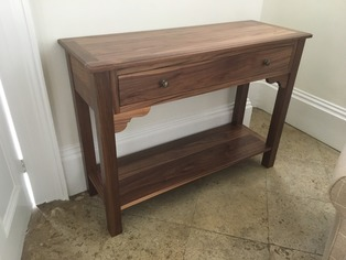 Bespoke console table by Furniture & Design of Oxford