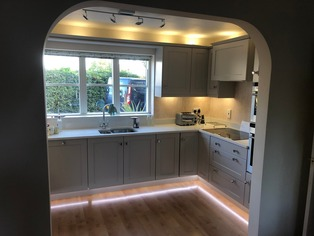 Bespoke kitchen with LED lighting