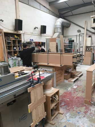 Cabinet makers at work in our workshop