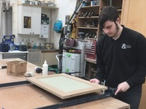 Apprentice assembling door