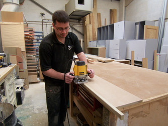 Cabinet maker at work