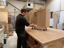 Cabinet maker at workbench