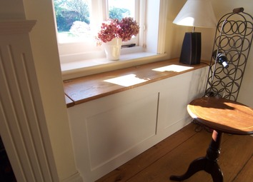 Built-in window seat with storage