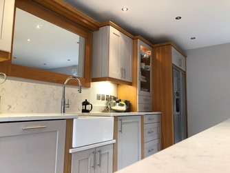 Bespoke kitchen with Belfast sink