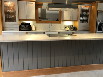 Bespoke hand-made kitchen with island