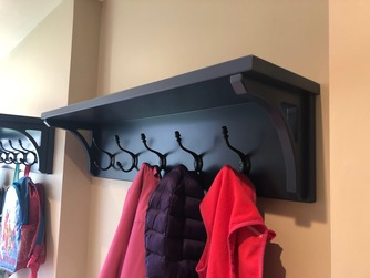 Coat hooks in boot room