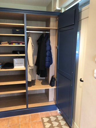 Interior of boot room storage