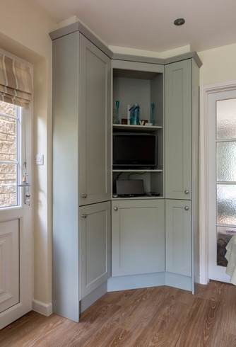 Bespoke built-in corner unit