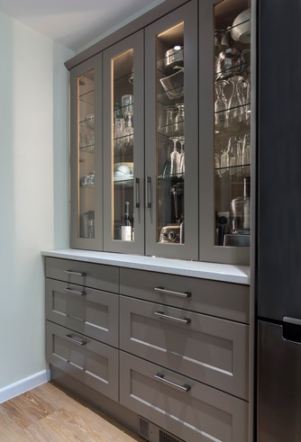 Built-in dresser unit