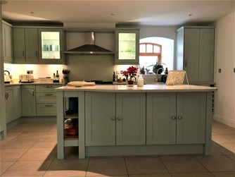 Hand-made Shaker kitchen with island