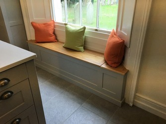 Bespoke window seat with storage