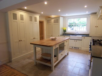 Bespoke in-frame kitchen with island